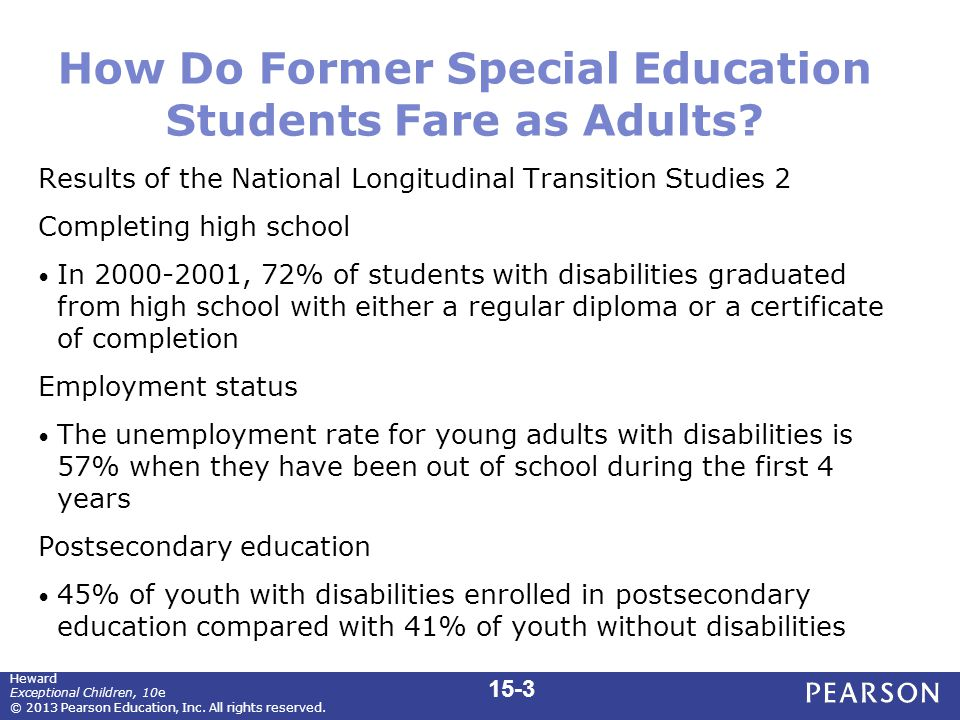 How Do Former Special Education Students Fare as Adults.