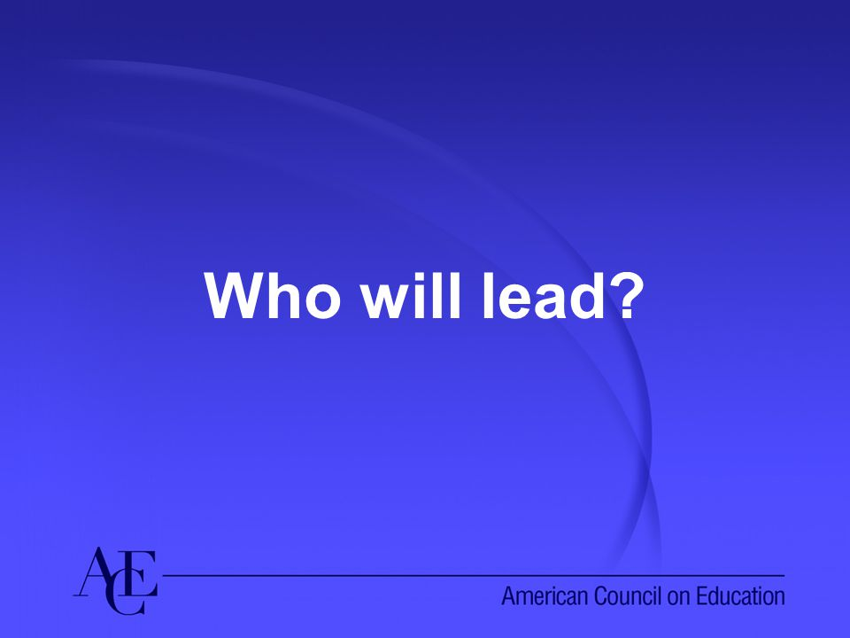 Who will lead