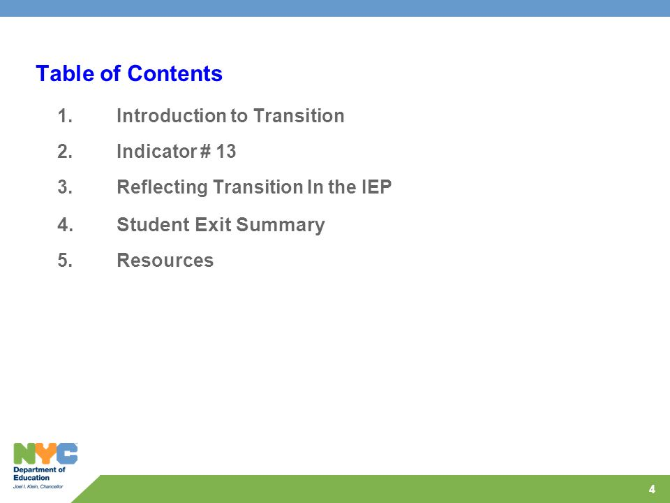 45 Part 4: Exit Summary Exit Summary: Part 5 – Recommendations that may assist the student in reaching post-secondary goals Recommendations that may assist the student in reaching post-secondary goals