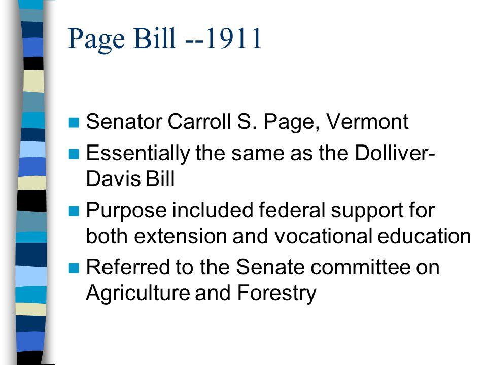 Page Bill --1911 Senator Carroll S.