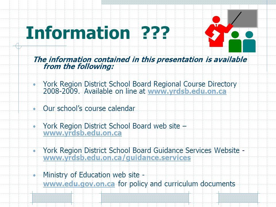 Information ??.
