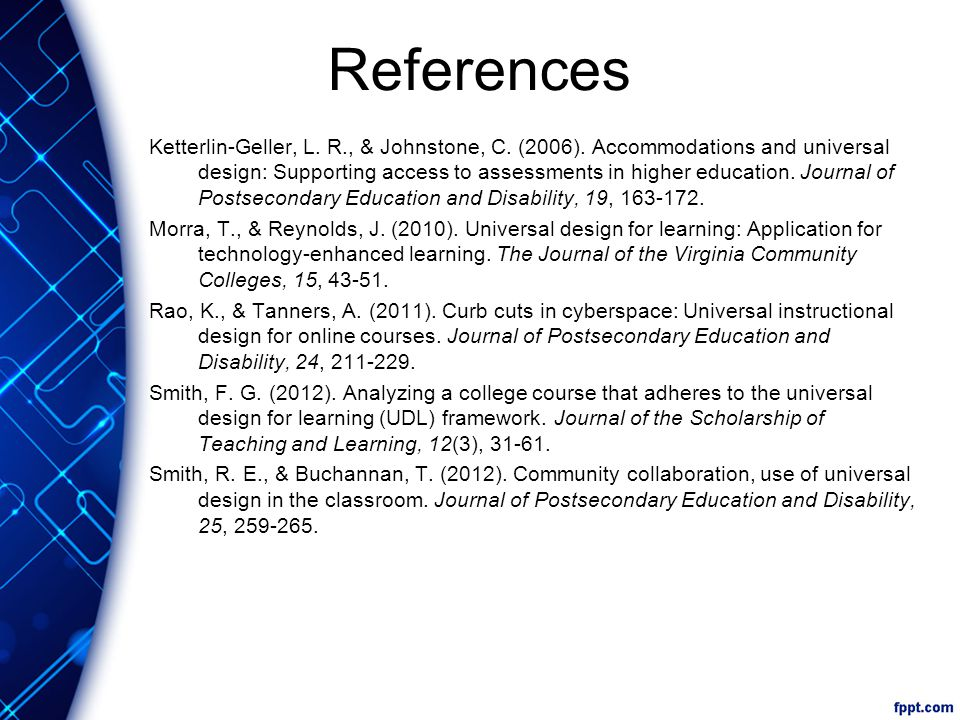 References Ketterlin-Geller, L. R., & Johnstone, C.