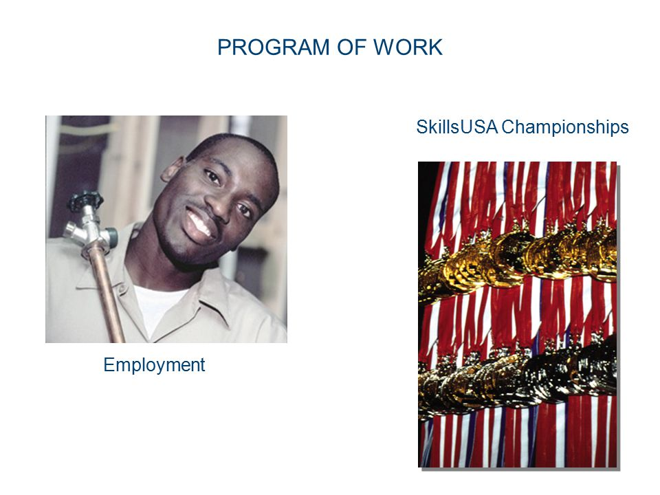 24 PROGRAM OF WORK Employment SkillsUSA Championships