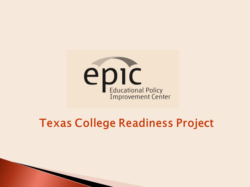 Texas College Readiness Project