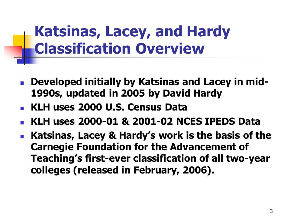 4 Important Details to Understand as We Look at the Findings Applied the 2005 Katsinas et al.