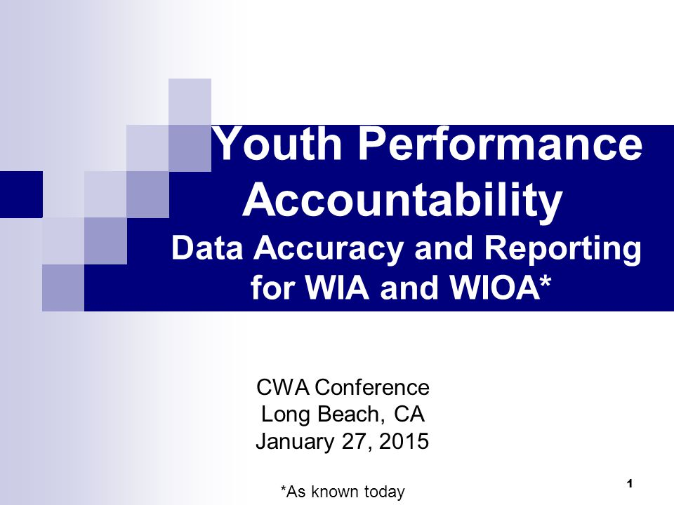 Objective Mutual Understanding of Data Collection- Entry-Reporting accountability from Local Areas to State to DOL.