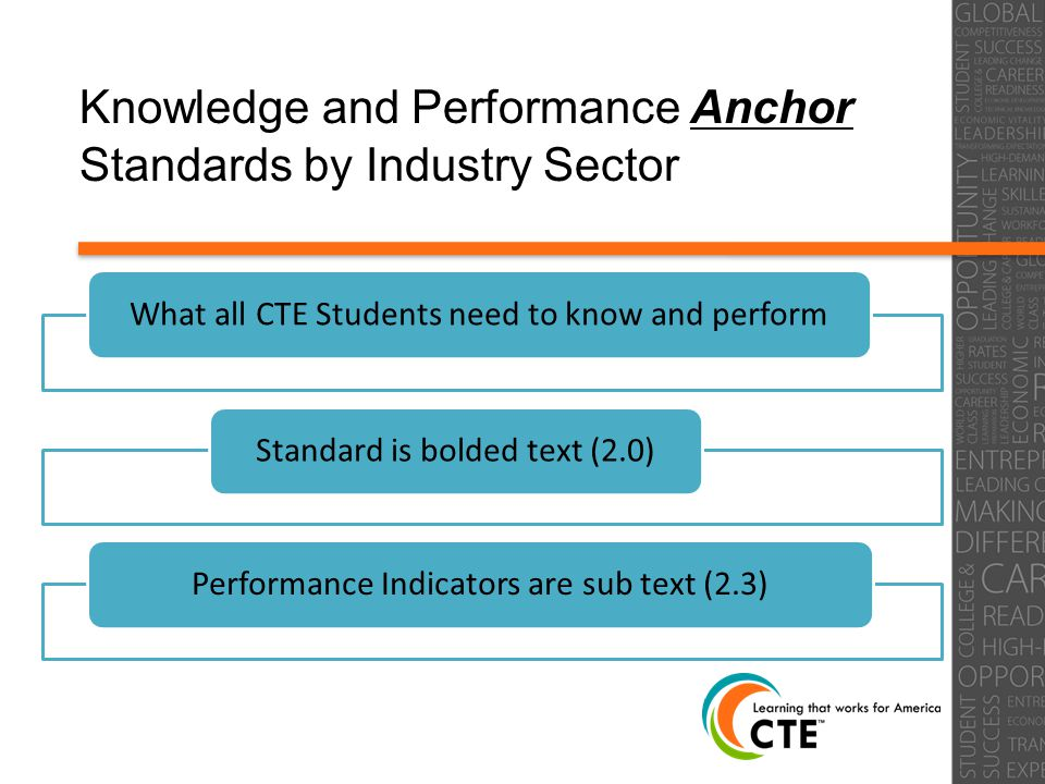 Knowledge and Performance Anchor Standards by Industry Sector