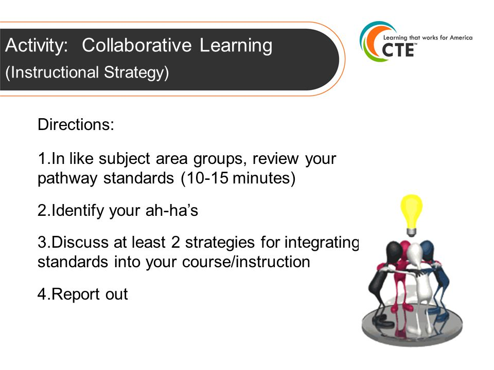 Activity: Collaborative Learning (Instructional Strategy) Directions: 1.