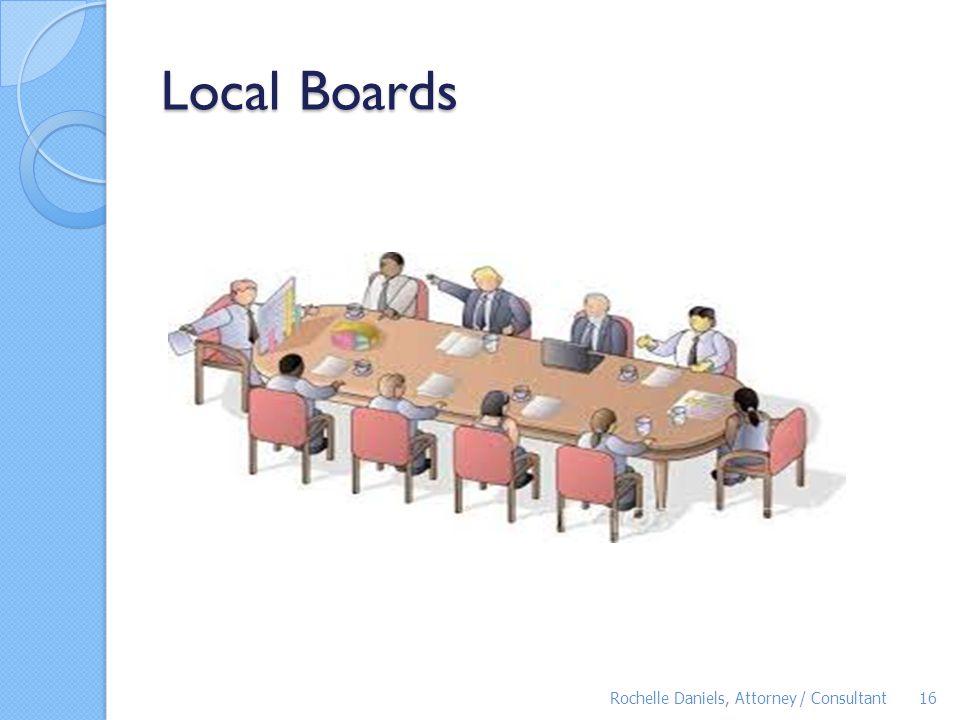 Local Boards Rochelle Daniels, Attorney / Consultant16