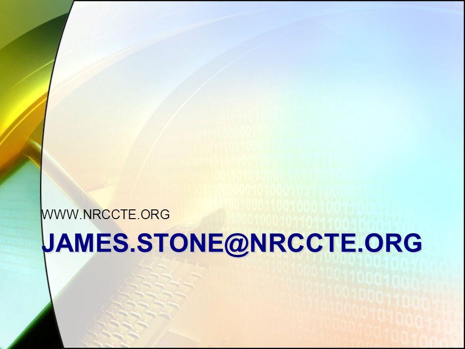 JAMES.STONE@NRCCTE.ORG WWW.NRCCTE.ORG