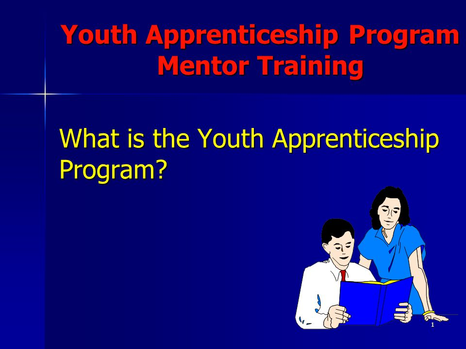 1 What is the Youth Apprenticeship Program? Youth Apprenticeship Program Mentor Training