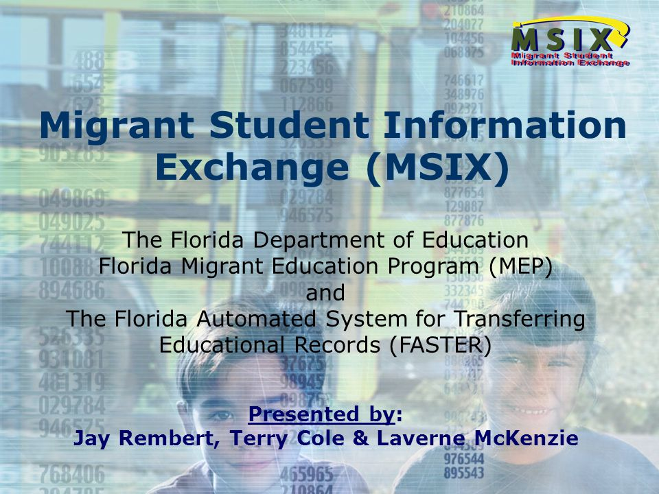 31 Migrant Transcript Transmissions Guideline to FASTER Formats Format Type 'I' For migrant transcripts addressed to MSIX or between districts Migrant Format (11) is valid Exceptional Format (06) is valid All migrant fields will be transmitted Format Type 'S' For migrant transcripts addressed from districts to postsecondary school Cannot transmit Migrant Format (11) – edit failure Cannot transmit Exceptional Format (06) – edit failure All other migrant fields found to contain data will be initialized to spaces if transmitted Format Type 'T' Should not be used to transmit migrant data Cannot transmit Migrant Format (11) – edit failure Cannot transmit Exceptional Format (06) – edit failure All other migrant fields found to contain data will be initialized to spaces if transmitted