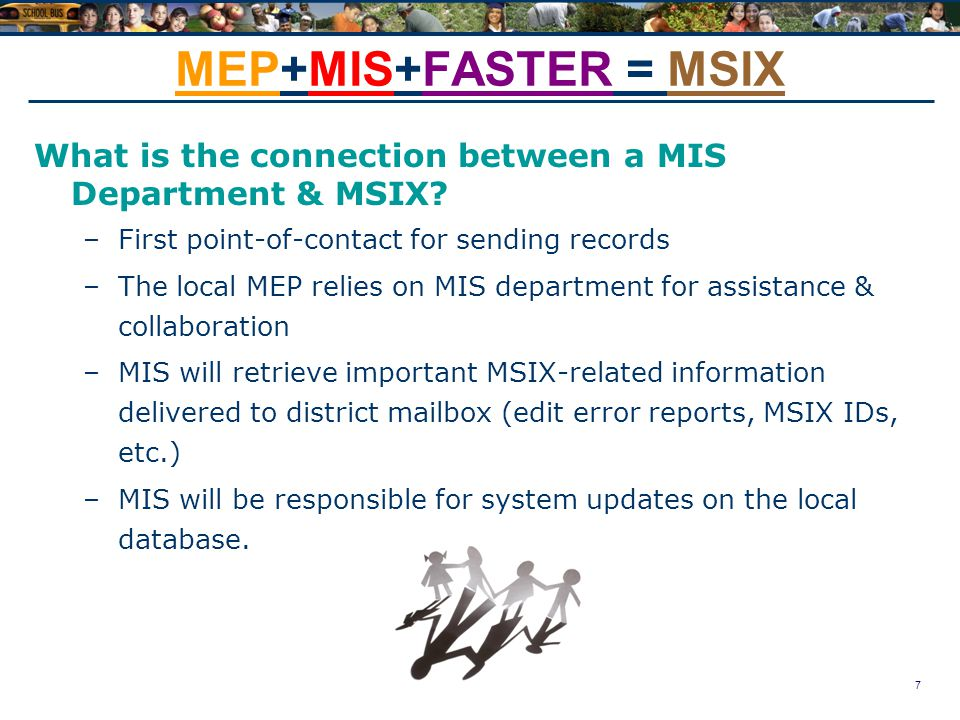 7 MEP+MIS+FASTER = MSIX What is the connection between a MIS Department & MSIX.