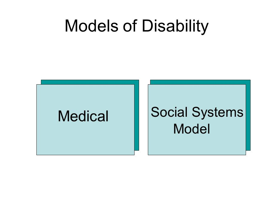 Social Systems Model Models of Disability Medical