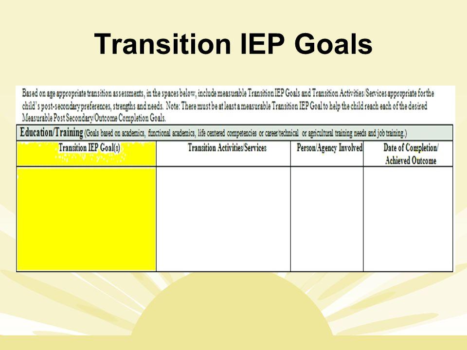 Transition IEP Goals