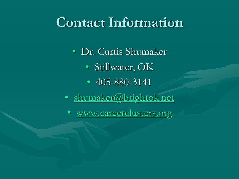 Contact Information Dr. Curtis ShumakerDr.