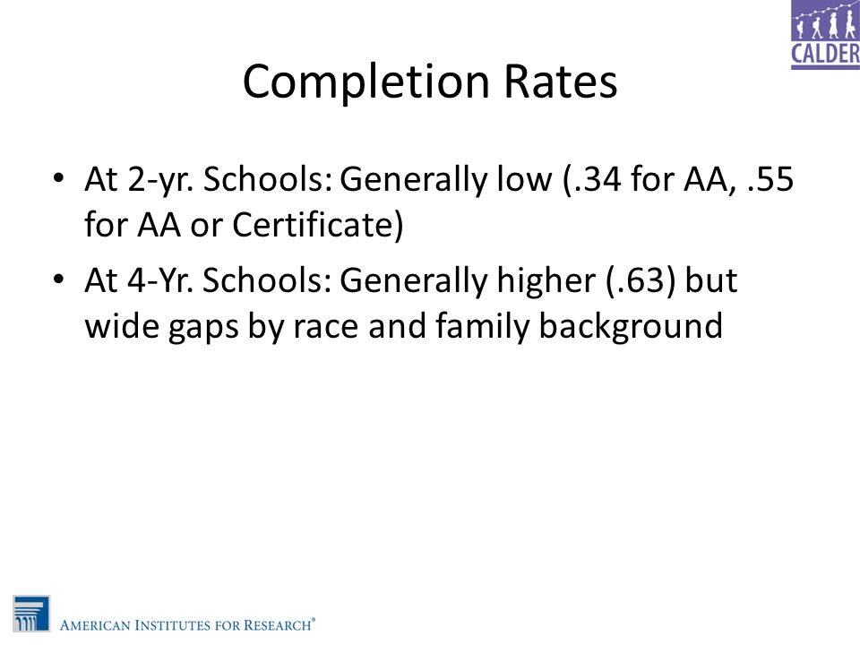 Achievement Gaps Measured by Grades, Courses Taken and Test Scores Remain across Race and Family Background More mixed by gender: Favor females but Math/Science v.