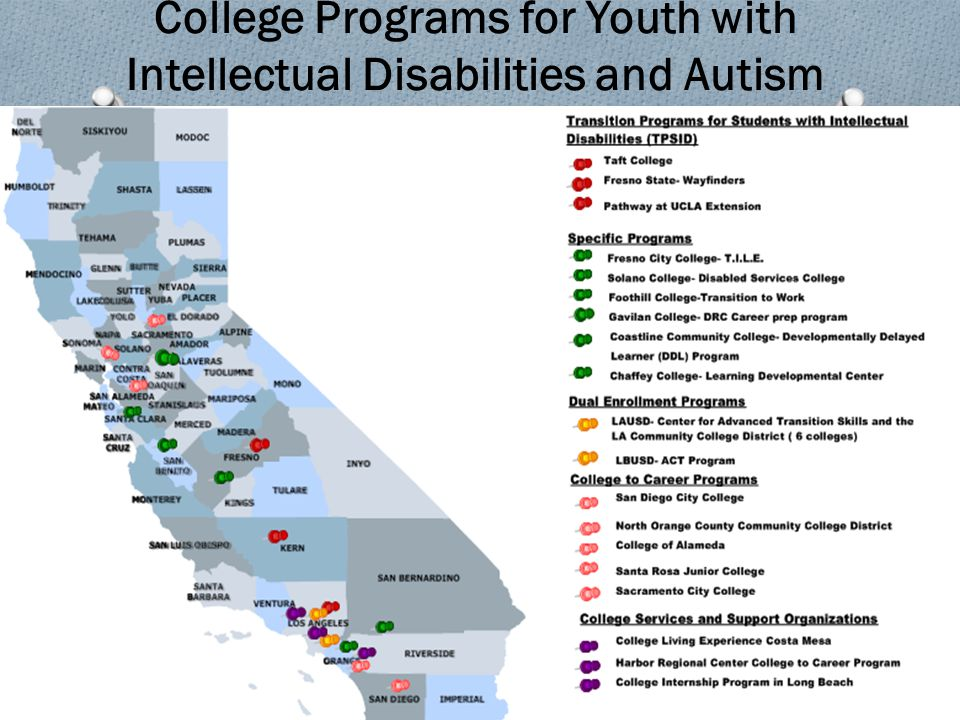 College Programs for Youth with Intellectual Disabilities and Autism