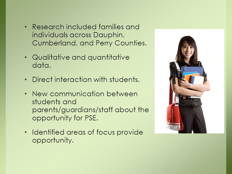 Research included families and individuals across Dauphin, Cumberland, and Perry Counties.
