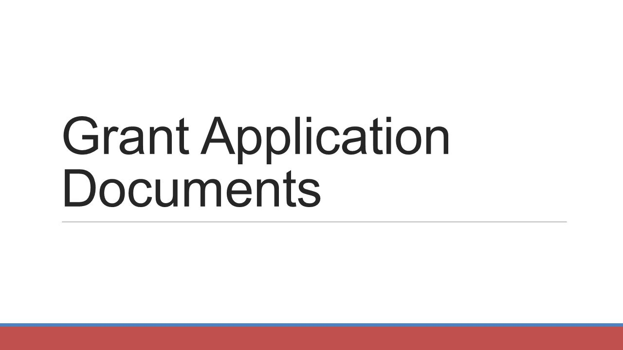 Grant Application Documents
