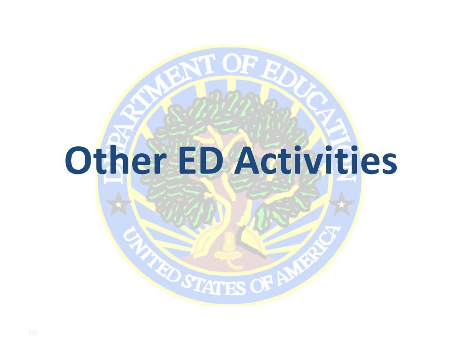 Other ED Activities 16