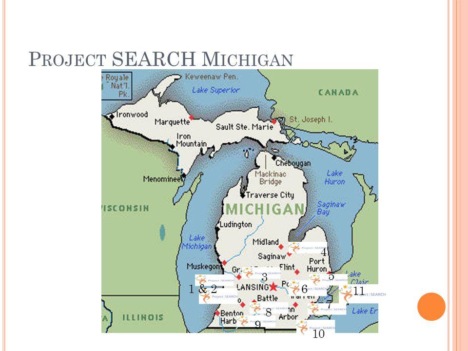 P ROJECT SEARCH M ICHIGAN 1 & 2 3 4 5 6 7 8 9 10 11