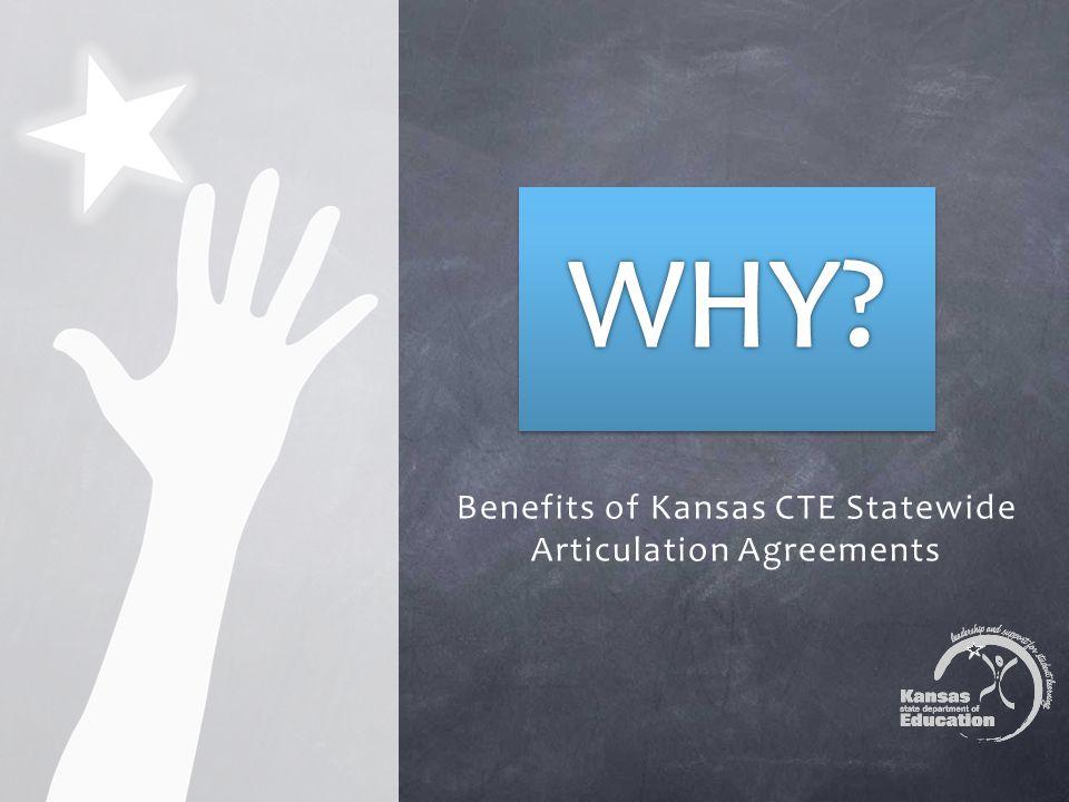Benefits of Kansas CTE Statewide Articulation Agreements