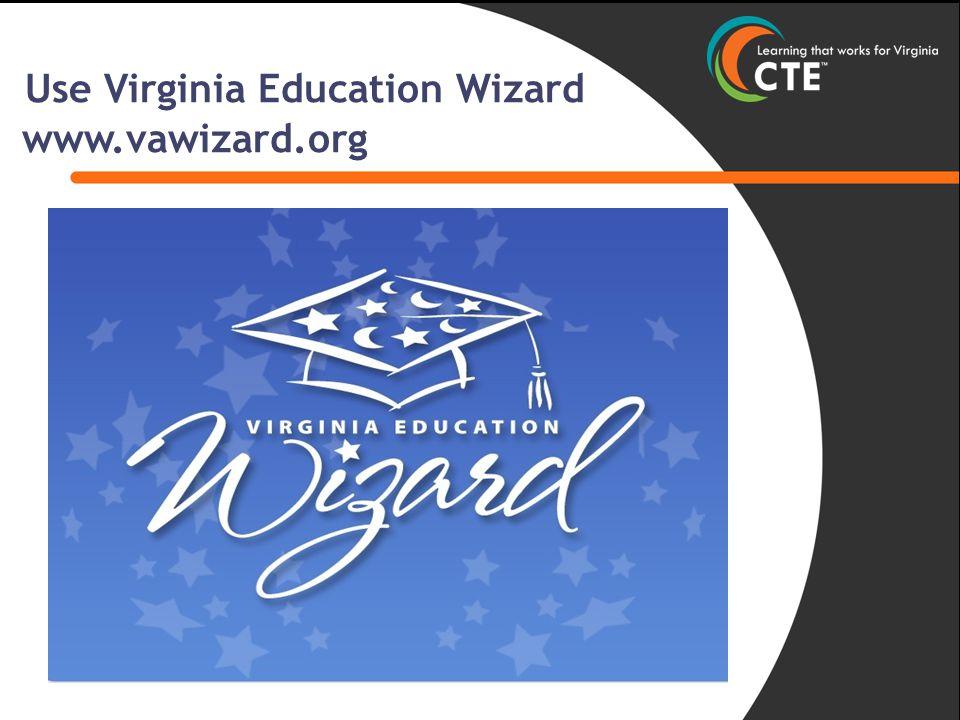 Use Virginia Education Wizard www.vawizard.org