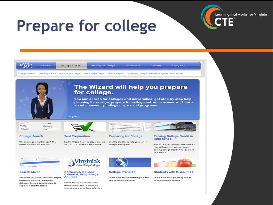 Prepare for college