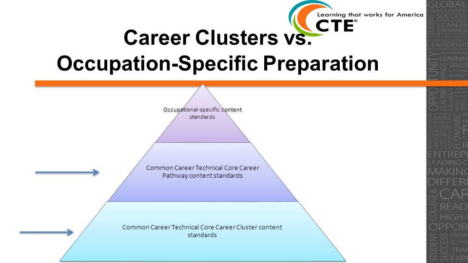 Career Clusters vs.