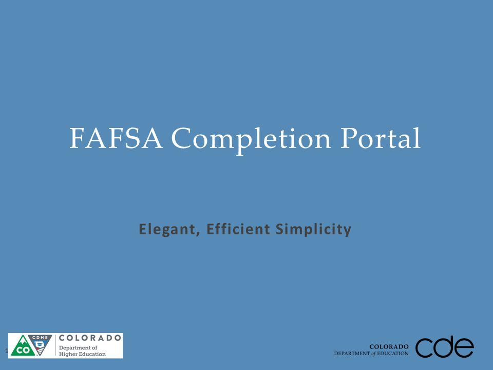 Elegant, Efficient Simplicity FAFSA Completion Portal 16