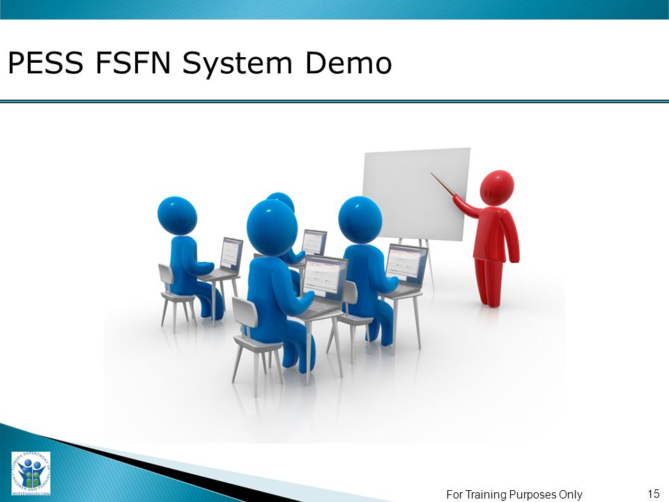 PESS FSFN System Demo For Training Purposes Only 15