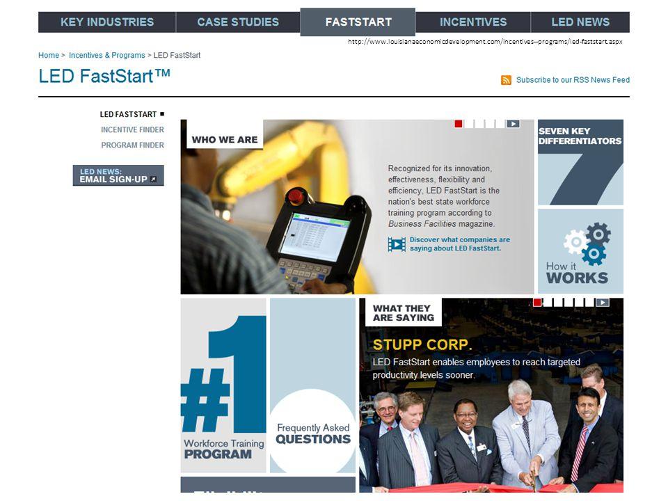 http://www.louisianaeconomicdevelopment.com/incentives--programs/led-faststart.aspx