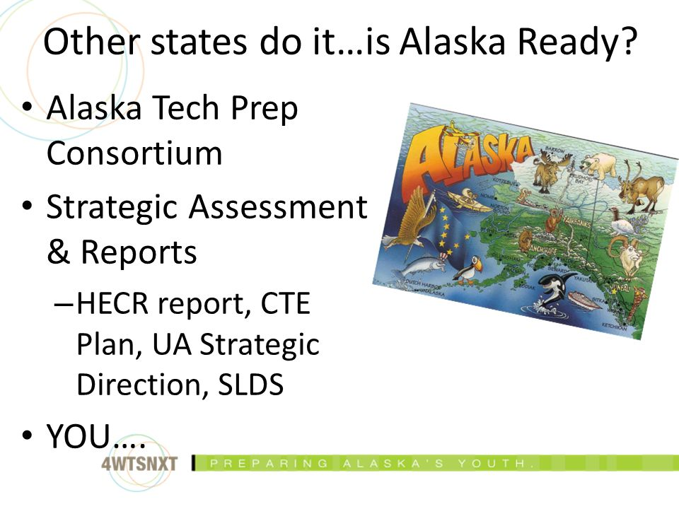 Alaska Tech Prep Consortium Strategic Assessment & Reports – HECR report, CTE Plan, UA Strategic Direction, SLDS YOU….