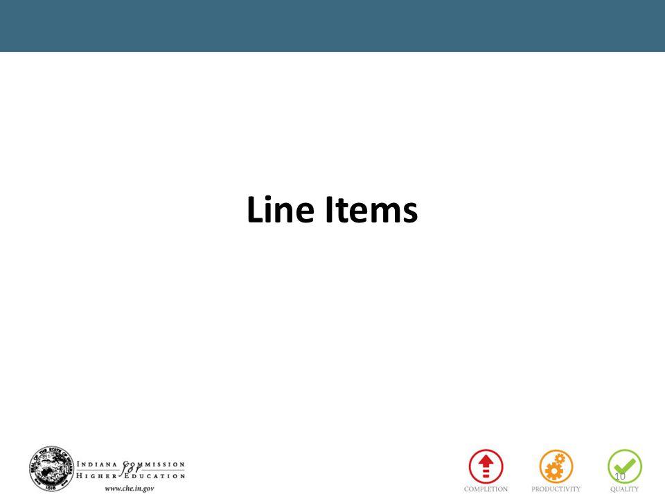 Line Items 10
