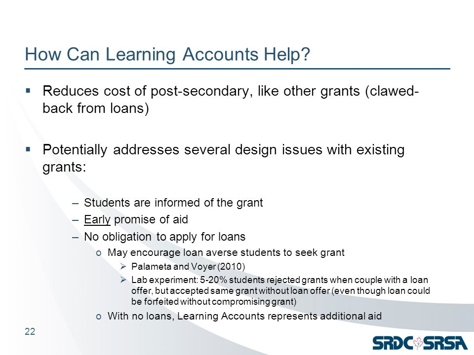 How Can Learning Accounts Help.