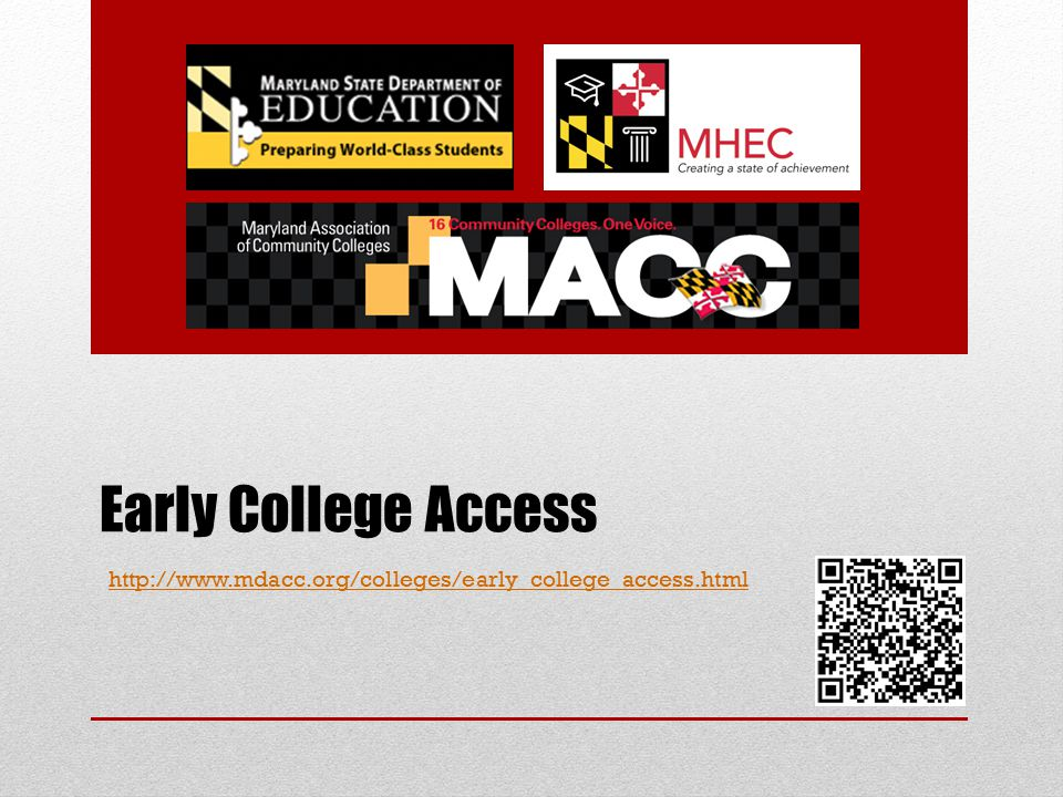 Early College Access http://www.mdacc.org/colleges/early_college_access.html