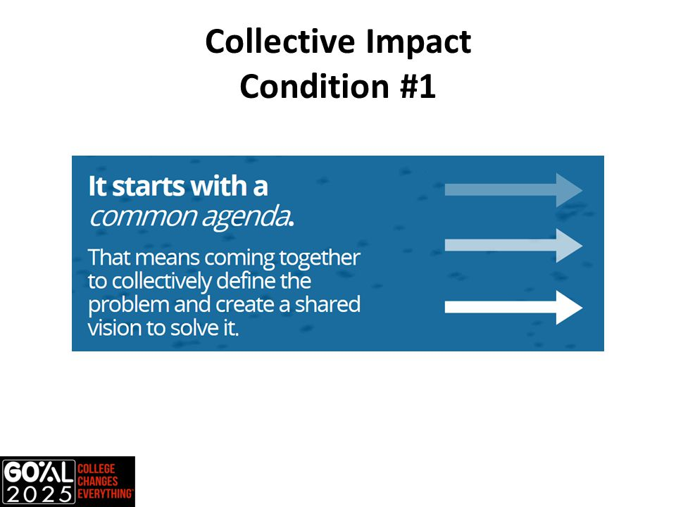 Collective Impact Condition #1