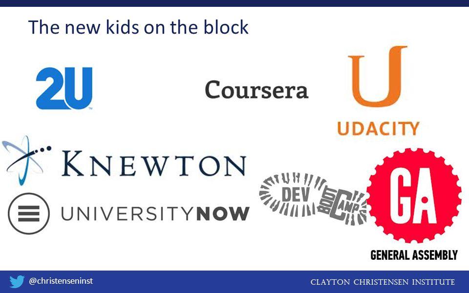 Clayton christensen institute @christenseninst The new kids on the block