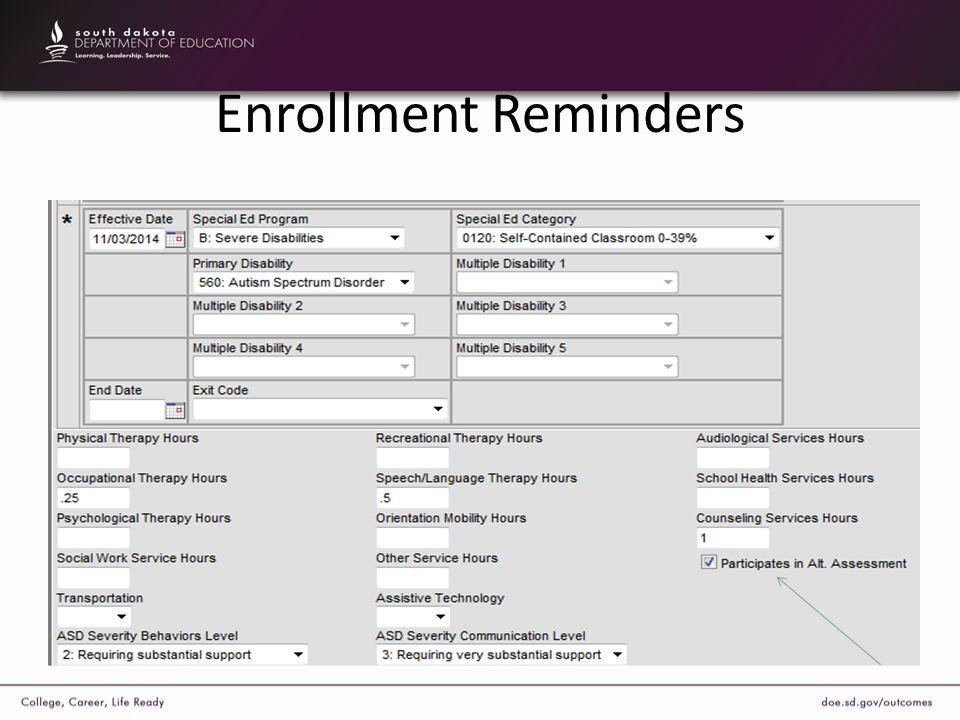 Enrollment Reminders