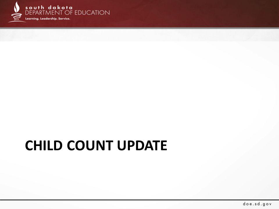 CHILD COUNT UPDATE