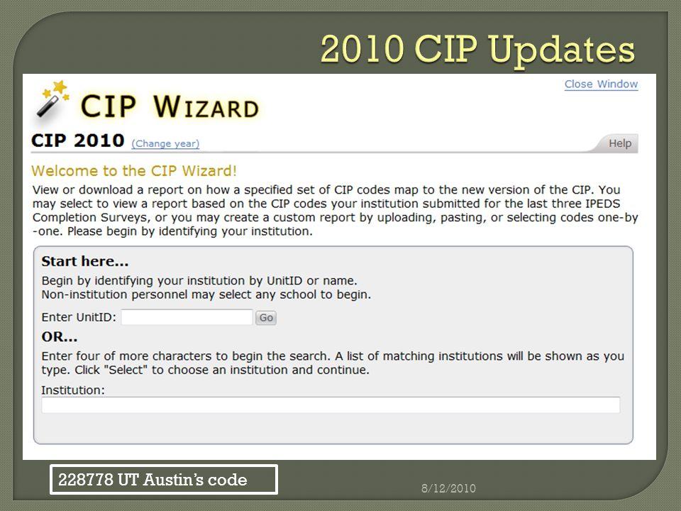 228778 UT Austin's code 8/12/2010