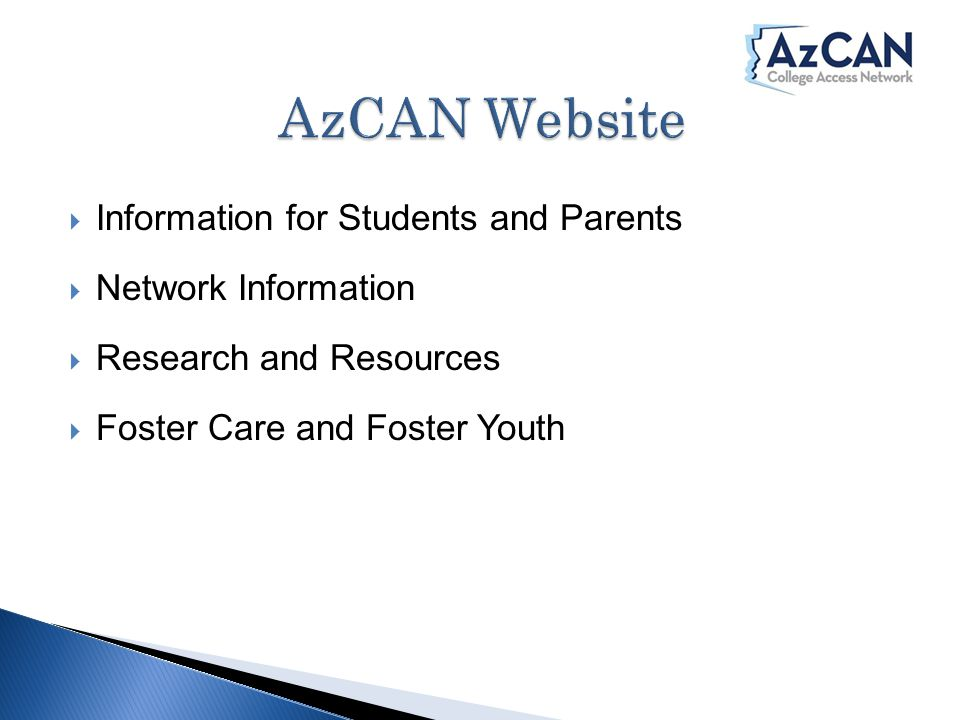  Information for Students and Parents  Network Information  Research and Resources  Foster Care and Foster Youth