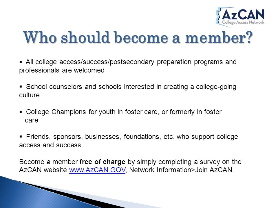 Who should become a member.