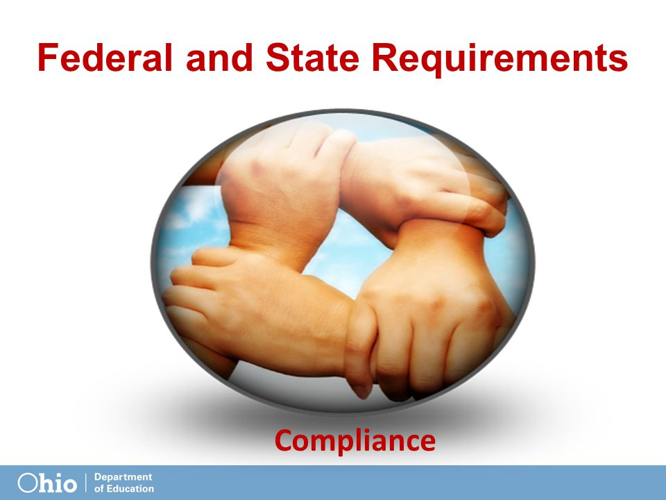 Federal and State Requirements Compliance