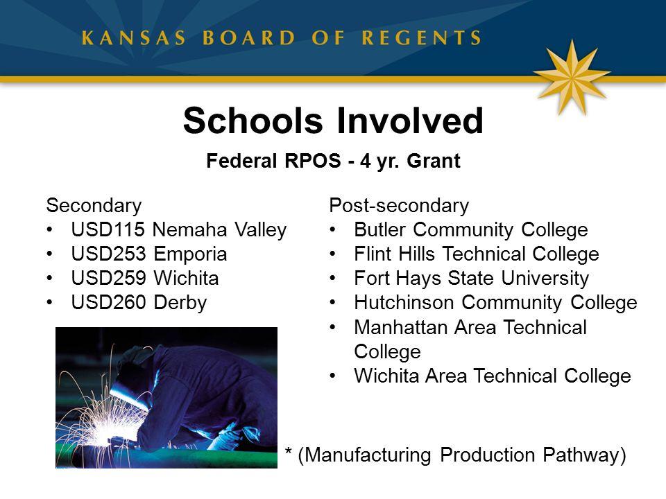 Schools Involved Federal RPOS - 4 yr.