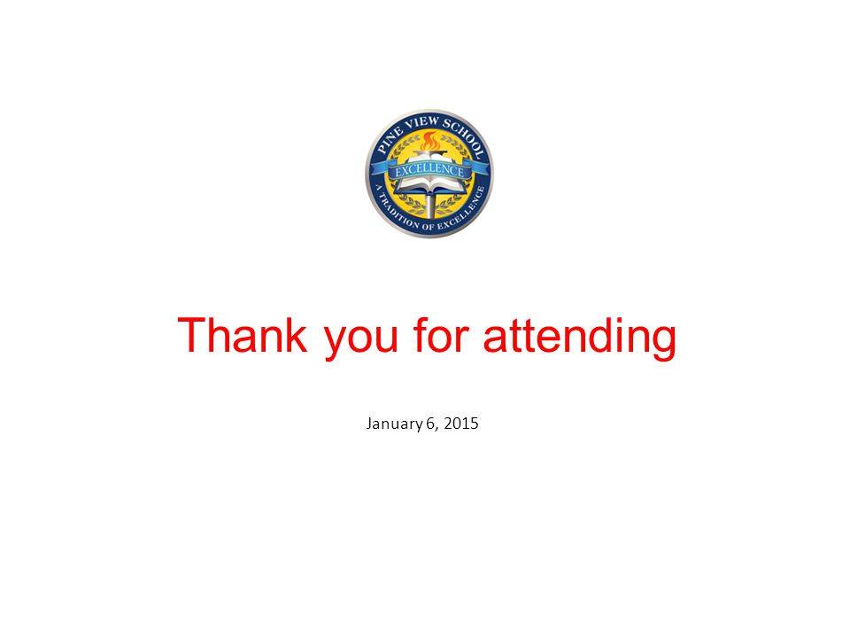 Thank you for attending January 6, 2015