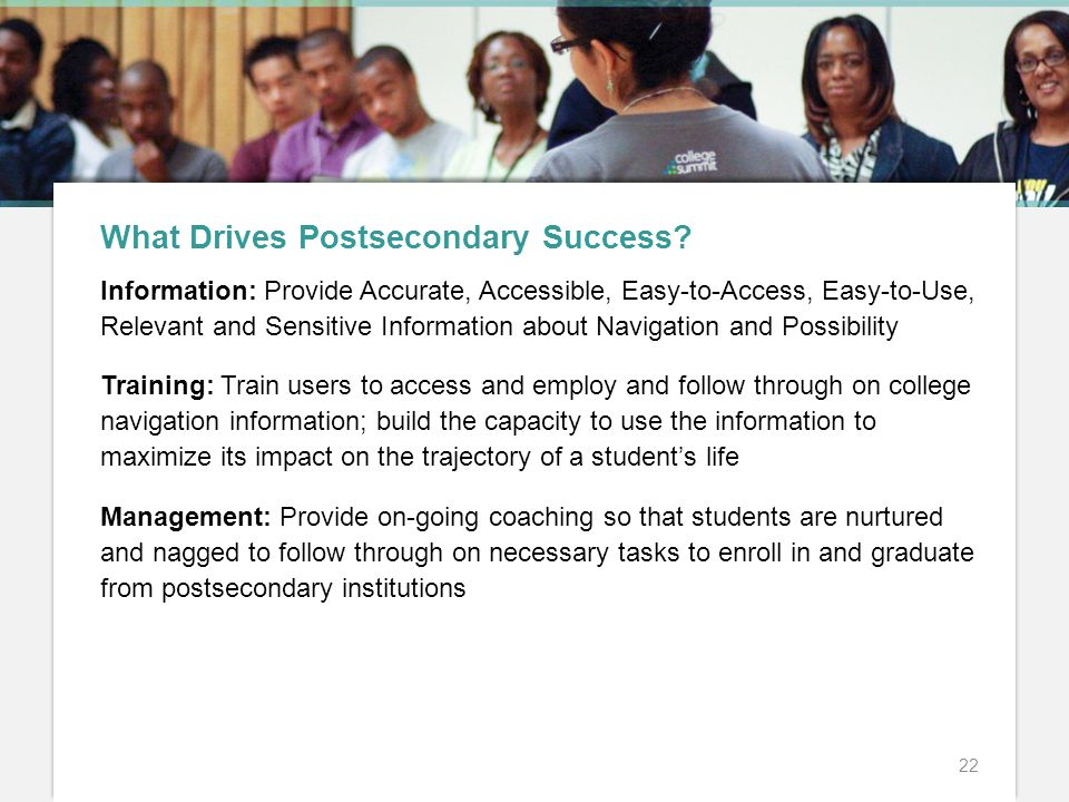 What Drives Postsecondary Success.
