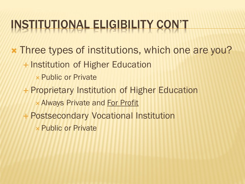 Three types of institutions, which one are you.