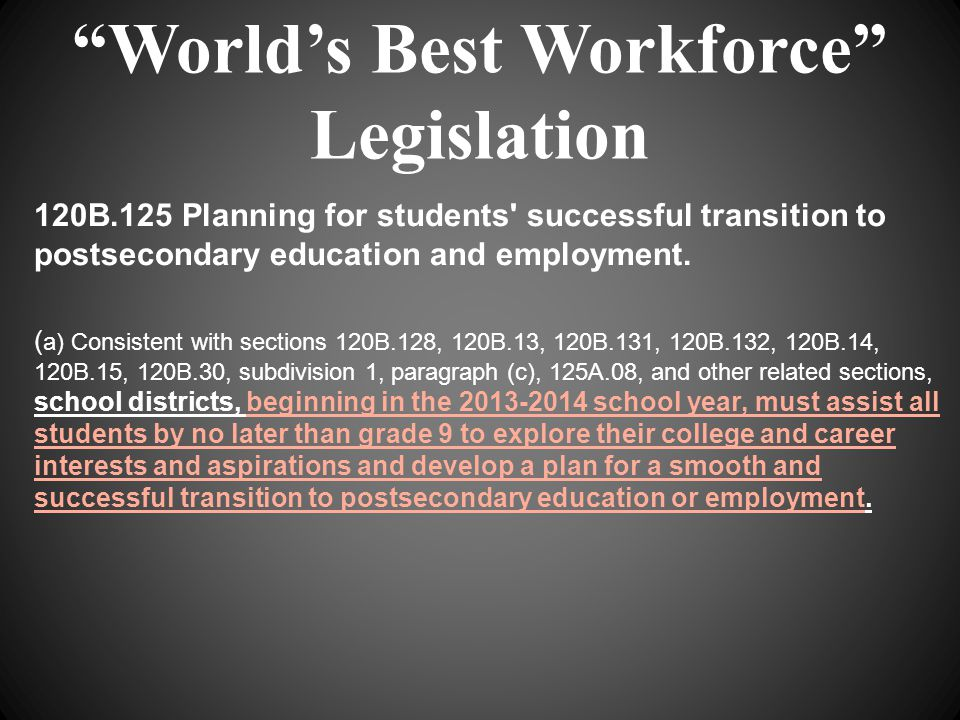When I say the word college it includes: Any accredited postsecondary credential, certificate or degree program